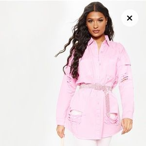 BNWT PLT Pink Oversized Shirt